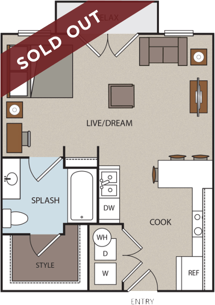 The studio floor plan is sold out.